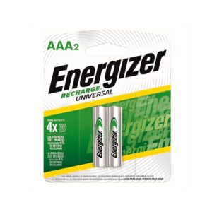Pilas Energizer Recharge Universal AAA x2 en GE Photo