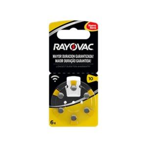 Pilas para audiología Rayovac 10 en GE Photo