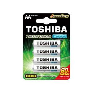 Pilas Toshiba AA Recargable 2000 mAh x4u en GE Photo