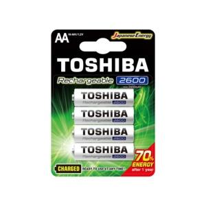 Pilas Toshiba AA Recargable 2600 mAh x4u en GE Photo